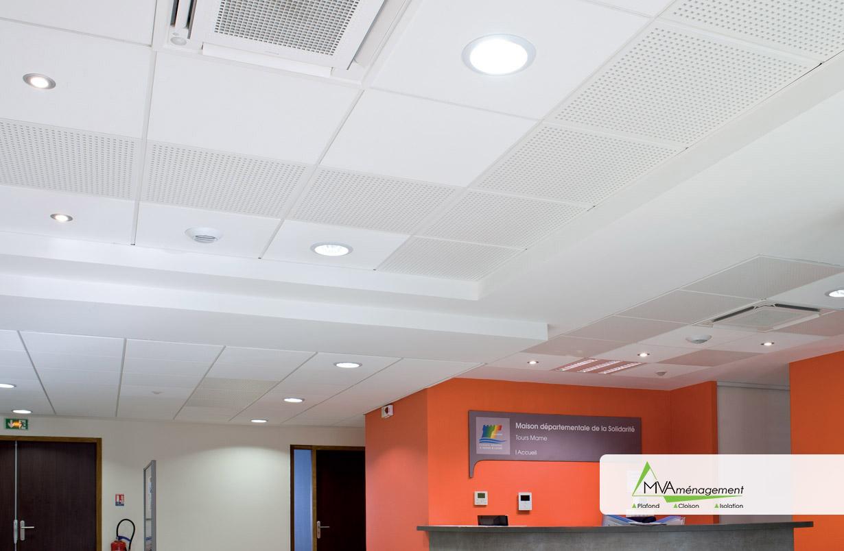 Plafond acoustique décoratif Tours